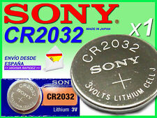 Pila SONY Lítio ★ CR2032 ★ 3 voltios /  1 SONY Lithium Battery CR2032