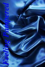 """100% mulberry silk charmeuse King Duvet comforter cover 105x93"""" Navy Blue"""