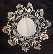 Antique Linen Fancy Cantu Lace Doilies - Set of 3
