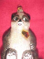 Christopher Radko Christmas Ornament A Winter Bear's Heart Aids Awareness Panda