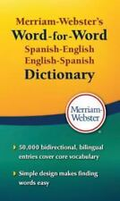 Merriam Webster's Word-For-Word Spanish-English Dictionary Paperback Book