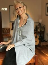 CASHMERE Poncho GREY, CAPE Wrap One Size Fits All, FREE UK Shipping, gray