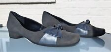 Van Dal Court Shoes - Dark Green Suede with Pewter Bows - UK 5.5 (D) - Stunning