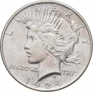 Choice - Gem BU Unc - 1924 Peace Silver Dollar -- 90% Silver *944
