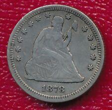"1878-CC SEATED LIBERTY SILVER QUARTER **FULL ""LIBERTY"" VISIBLE** FREE SHIPPING"