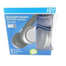 ISY IBH-6500-TI On-ear Kopfhörer, Bluetooth Titanium Bügelkopfhörer Headset NEU