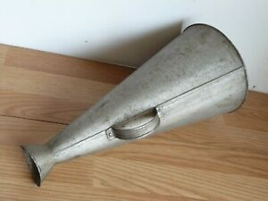 Antique Nautical Boat Ship Horn Megaphone Metal with Rivits Maritime