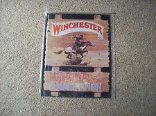 Vintage Winchester Firearms Annunition Tin Sign New Still in Plactic Wrap