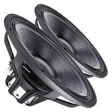 """Pair Faital Pro 18HP1060 8ohm Neodymium 18"""" Mega SPL Subwoofer 2400W Speaker"""