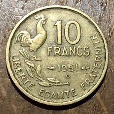 PIECE DE 10 FRANCS GUIRAUD 1951 B (93)