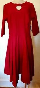 RockSteady Burgundy 3/4 Sleeve Dress Size 3X NWT
