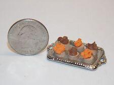 Dollhouse Miniature Halloween Cupcakes Silver Platter 1:12 G64 Dollys Gallery