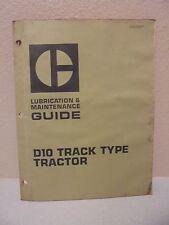 Caterpillar D10 Track Type Tractor Lubrication & Maintenance Guide sebu5567 cat