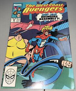 West Coast Avengers #46 Marvel 1st App Appearance Great Lakes Avengers GLA