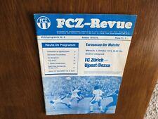 FC Zurich v Ujpest Dozsa (European cup) programme 1/10/1975