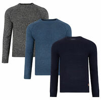 Threadbare New Men's Crew Neck Jumper Knitted Wool Blend Winter Pullover Sweater