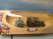 SOLIDO VEREM ARMY JEEP WITH TRAILER 1:50 SCALE DIE CAST. NEW