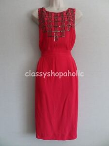 Boden Stunning Red Beaded / Sequined Dress   - Size 14R  - BNWOT