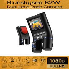 New listing Blueskysea B2W Dual Lens Front & Cabin Hd 1080P Wi-Fi Dash Camera Night Vision