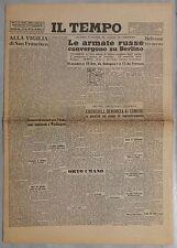 Il Tempo 20 aprile 1945 lotto prime pagine Facsimile