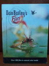 Livre de pêche ancien DAN BAILEY'S FLIES   1981 Mouche Truite Saumon pêche.....