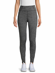ClimateRight by Cuddl Duds Women's Plush Warmth High Waist Thermal Legging Pants