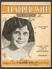FLAPPER WIFE Gloria 1925 Newspaper Serial Story Vintage Sheet Music Q21