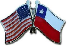 USA American Chile Flag Bike Motorcycle Hat Cap lapel Pin