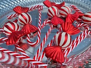 Peppermint Candy Cane Grinch Christmas Ornaments Tree Home Decor 16pc SET New