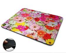 Colourful Flowers Premium Quality Flexible Rubber Mouse Mat / Mouse Pad