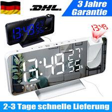 LED Digital Wecker Projektionswecker Temperatur Alarm Projektor uhr USB DHL