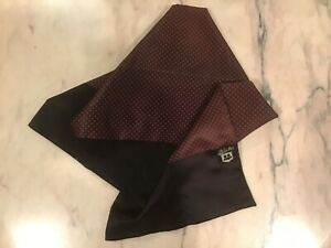 Dear Pal Men's Blended Fabric Scarf Navy with Red Dot Design