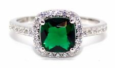 Sterling Silver Emerald And Diamond 2.65ct Ring (925) Free Gift Box
