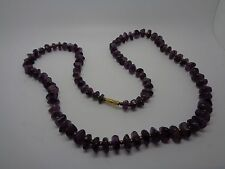 VINTAYE NATURAL AMETHYST NECKLACE BARREL CLASP 26""
