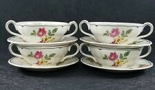 Set Of 4 Vintage Grindley Marlborough Royal Petal Melrose Cream Soup Cups /...