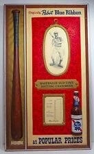 Vintage Pabst Blue Ribbon Baseball beer sign Ty Cobb old time batting champs
