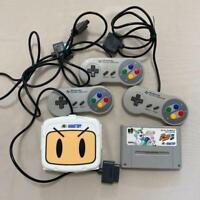 Nintendo SUPER Famicom Bomberman multi tap HUDSON tested and working SFC SNES