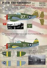 Print Scale 1/48 Republic P-47D Thunderbolt Razorback Aces over Europe Part 1 #