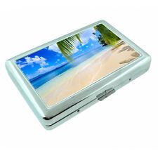 Fiji Islands D6 Silver Metal Cigarette Case RFID Protection Wallet Tropical