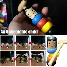 Immortal Daruma Small Wooden Man Stubborn Unbreakable Wood Magic Game Toy Gifts!