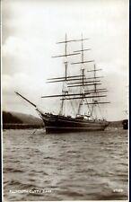 Photochrom Co. Ltd. Postcard 'Falmouth, Cutty Sark'
