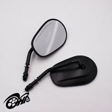 Motorcycle Side Rear View Mirrors Universal Black For Harley-Davidson