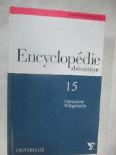 """Encyclopédie Thématique Volume 15 """"Ostracisme Wittgenstein"""" / Universalis Figaro"""