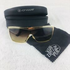 VON ZIPPER BANG BANG Sunglasses Gold Metal Frame Brown Gradient Lenses