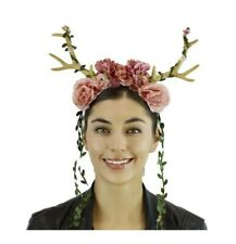 Fairy Floral Antlers Headband Mystical Creature Animal Horns Adult LIGHTS-UP
