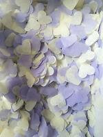 Purple & Ivory Biodegradable - HEART Wedding throwing confetti 5 handfuls