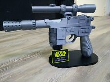 DL-44 Han Solo Blaster Kit réplique impression 3D + Support + plaque