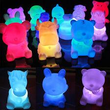 Hot kids Gift Animal Shaped Desk Lamp Night light LED 7 Colors Changing 1PC