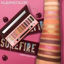 Kleancolor Surefire Black Cherry Eyeshadow Palette 12 shades ES491 Matte Shimmer