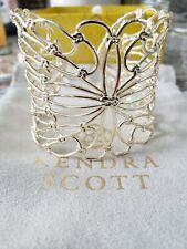 Kendra Scott Hallie State Cuff Bracelet Gold  NWT $78    KS Pouch